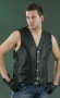 Men's Braided Leather Vest ML 1359N